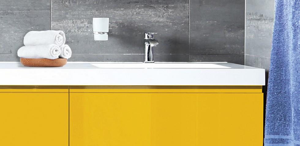 żółty mebli łazienkowych