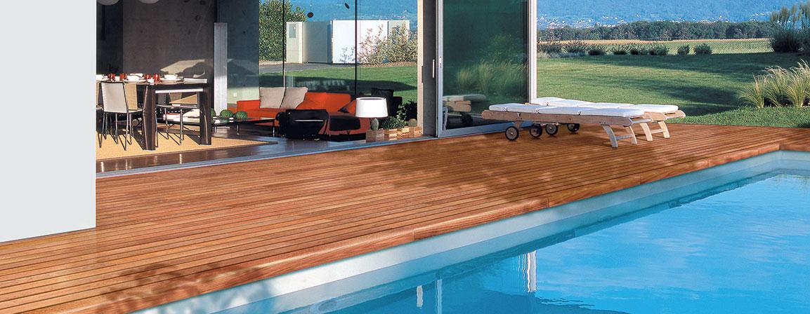 Basen drewniany pokład