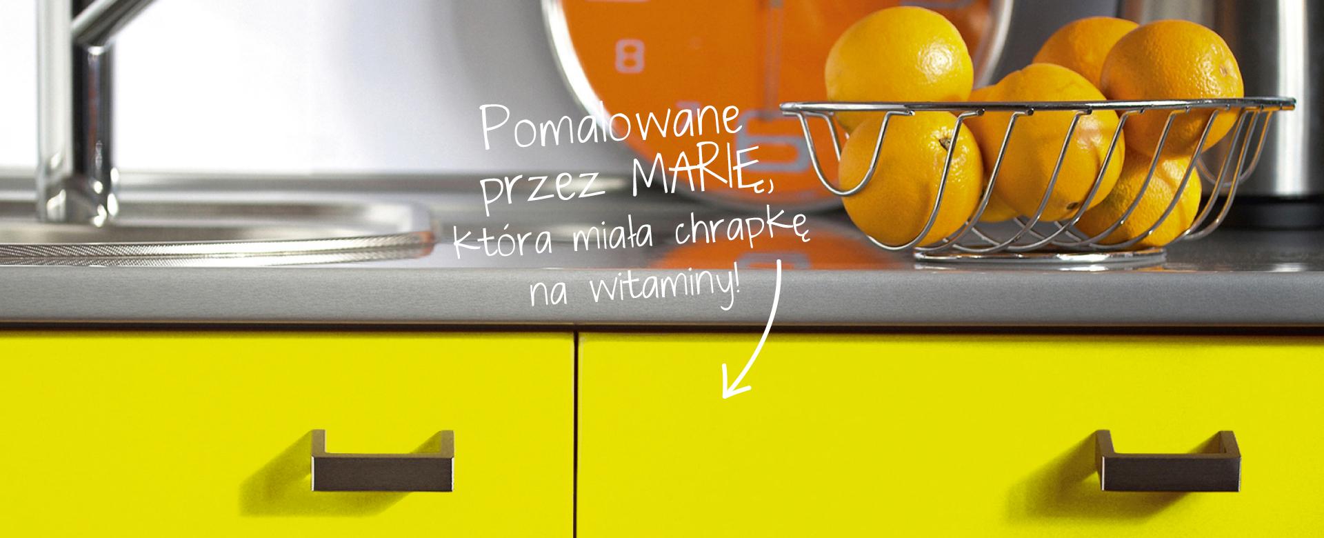 żółte malowanie meble kuchenne
