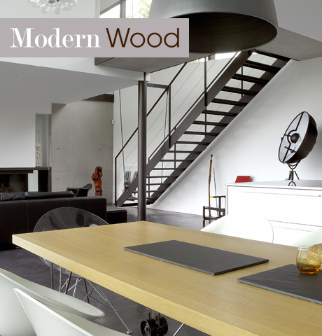 Trendy modern wood lookbook