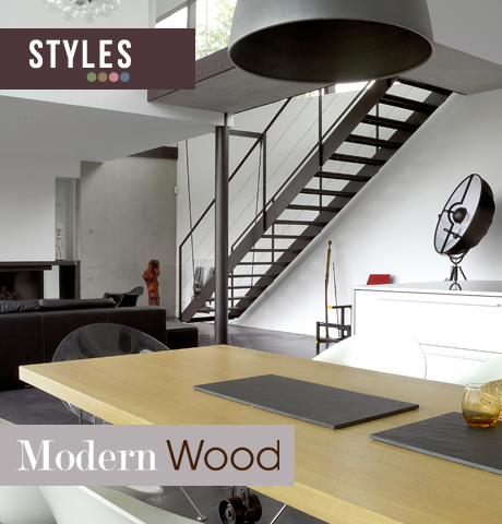 Style tendance modern wood lookbook
